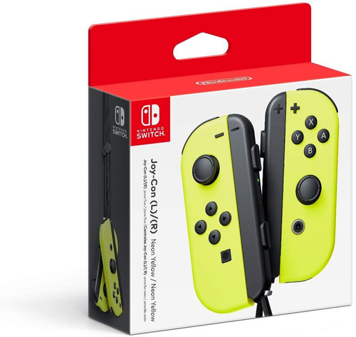 nintendo switch control joy con l/r neon yellow nuevo