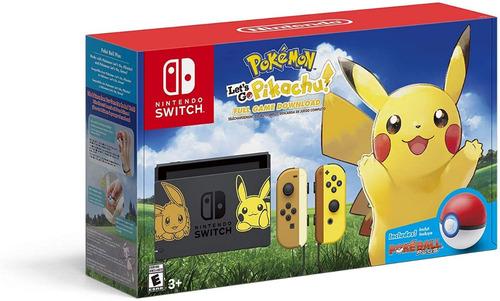 nintendo switch edición pokemon let's go + pokeball