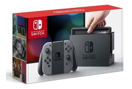 nintendo switch grey-con consola videojuegos tv y portatil