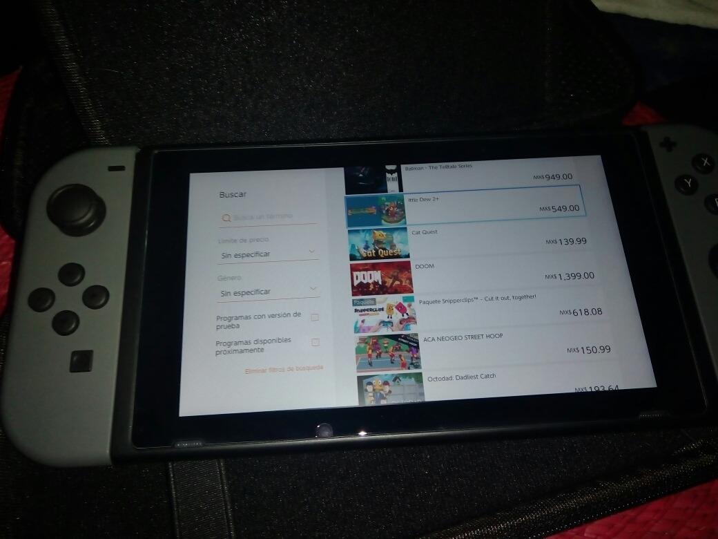 Nintendo Switch Gris Consola Juego Gratis Al Adquirirlo