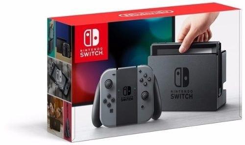 nintendo switch + joy con gray nuevo garantía inetshop