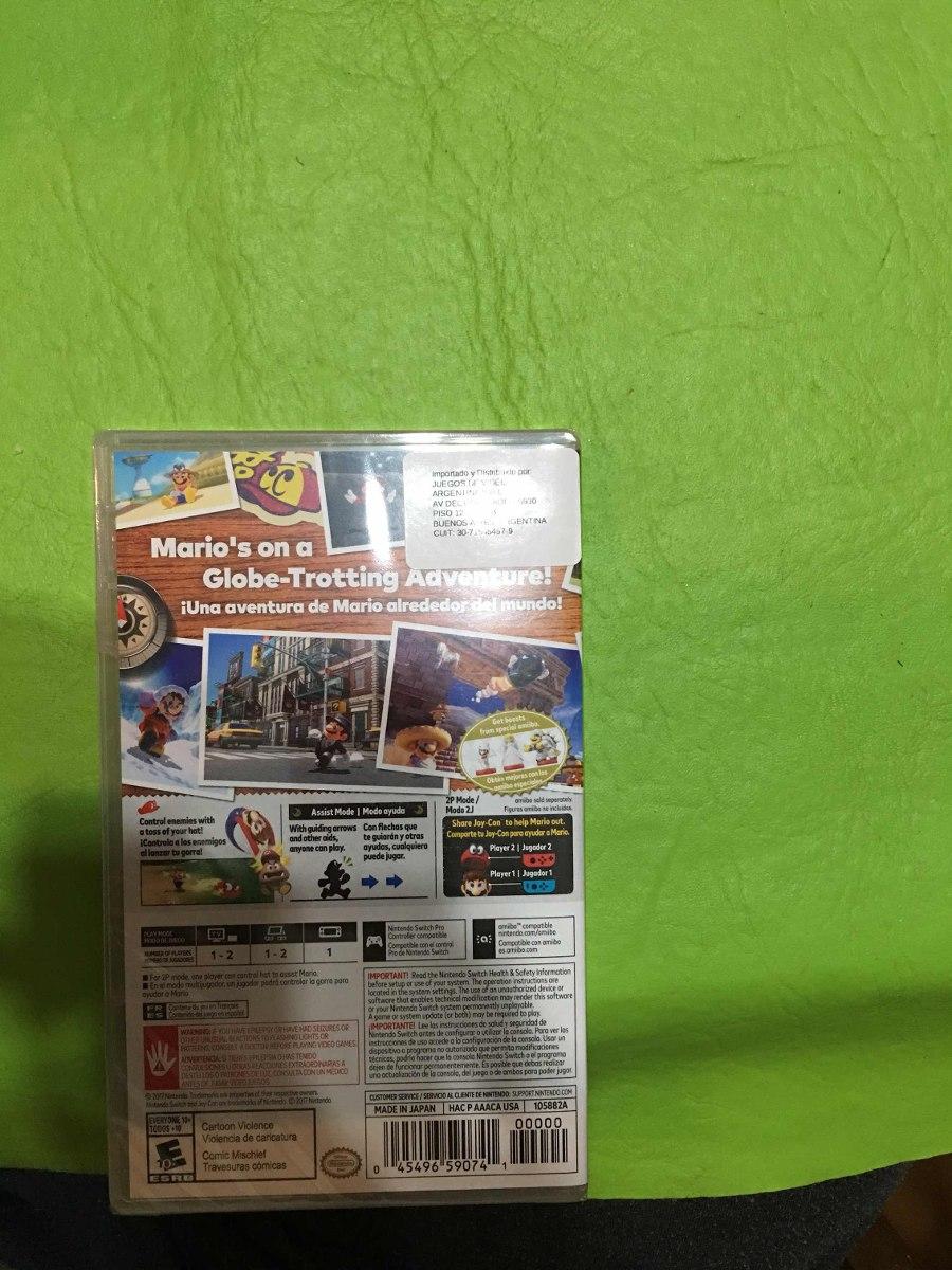 Super Mario Odyssey Nintendo Switch Juego 2 899 00 En Mercado Libre