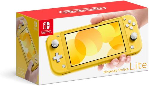 nintendo switch lite consola yellow original garantia tienda