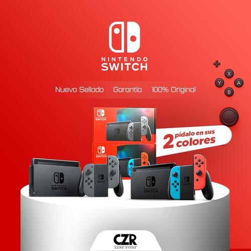 nintendo switch neon 2019 nueva sellada 32gb + batería!!