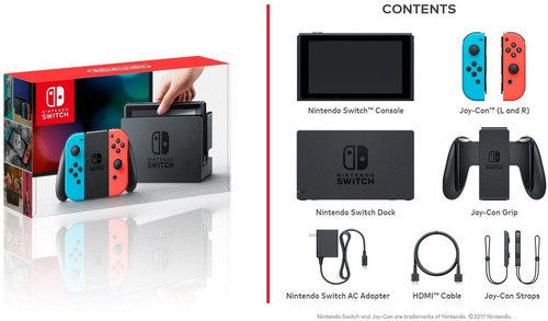 nintendo switch neón blue and red.. sellado y con garantía