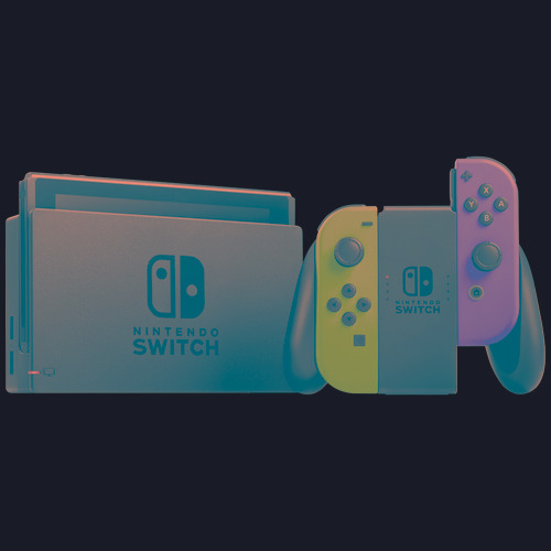nintendo switch neon blue & red
