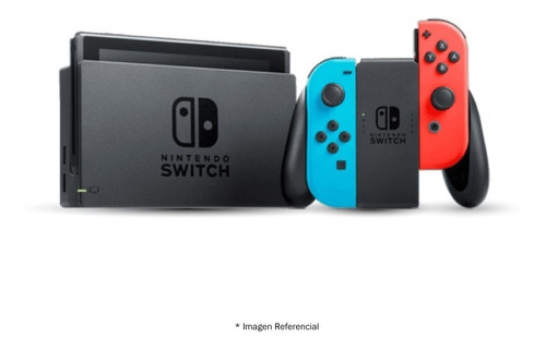 nintendo switch neon blue y rojo joy con, nuevo