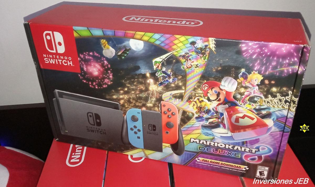 Nintendo Switch Nuevos 1 Juego Edicion Mario Kart Garantia Bs