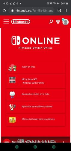 nintendo switch online (plan familiar 1 consola)
