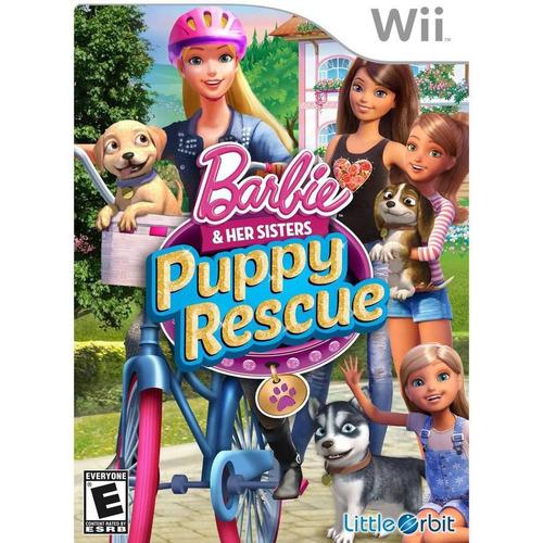 nintendo wii barbie y sus hermanas: rescate de cachorro