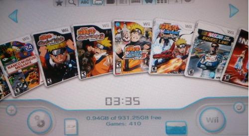 nintendo wii con 410 juegos disco duro usb gamecube mario