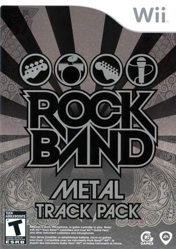 nintendo wii rock band metal track pack nuevo sellado