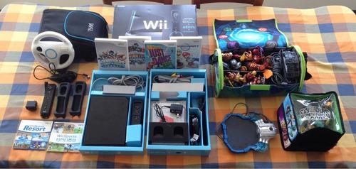 nintendo wii rvl-001 usa + 6 juegos + accesorios