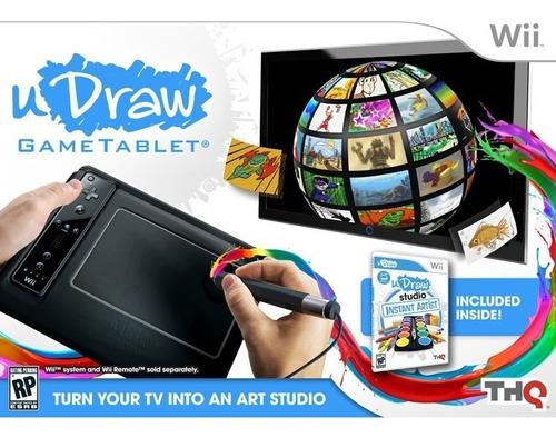 nintendo wii  tabla de diseño y juegos udraw*tienda stargus