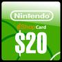 Nintendo Eshop 20 Dolares Game Card Para Wii U, Nintendo 3ds