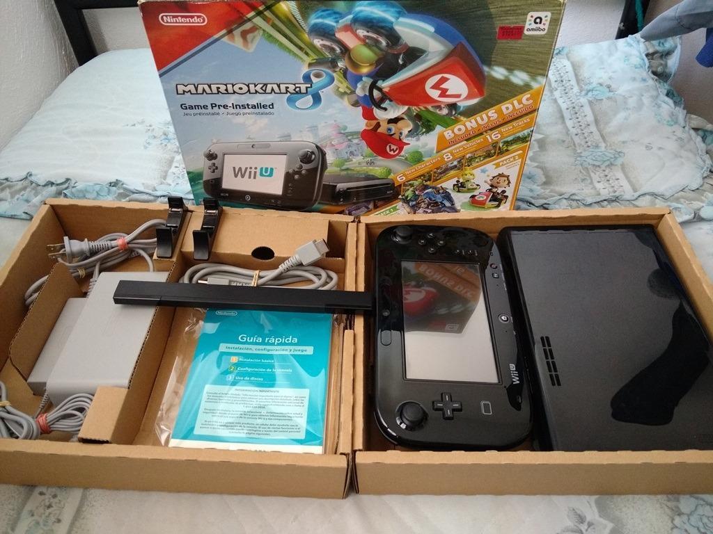 Nintendo Wii U Deluxe Mario Kart Con 15 Juegos Instalados