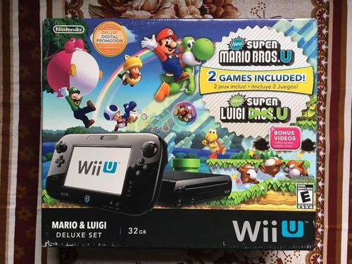 nintendo wii u mario and luigi delux edition + 7 juegos