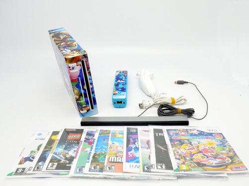 nintendo wii,10 juegos,remote y nunchuk lee directamente