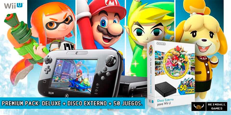 Nintendo Wiiu Deluxe Hd 50 Juegos Zelda Mario Stock 12 299 00