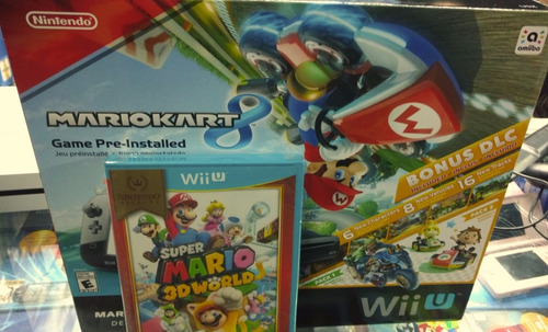 nintendo wiiu super mario 3d world consola  pack sellado