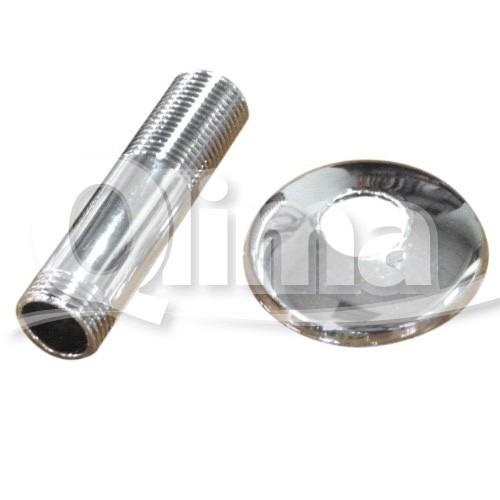 niple de acero inoxidable y roseta para radiadores