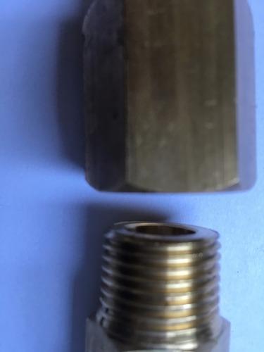 niple rosca drago a 1/2 con adaptador a 21,8 originalea