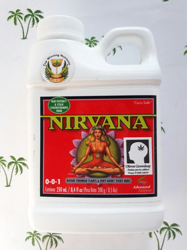 nirvana advanced nutrients floracion 250ml - olivos grow