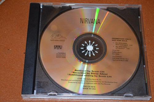 nirvana all apologies cd  gringo promocional  muy raro !!