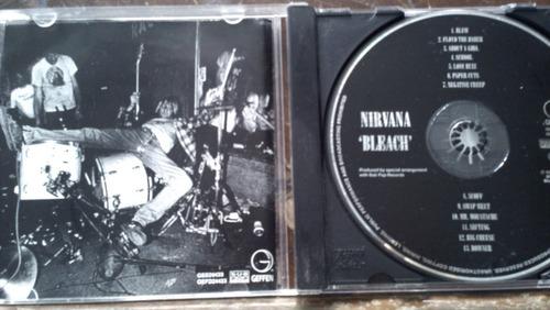 nirvana cds bleach importado
