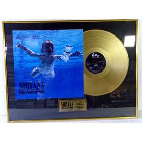 Nirvana Nevermind  Quadro Disco De Ouro Pronta Entrega