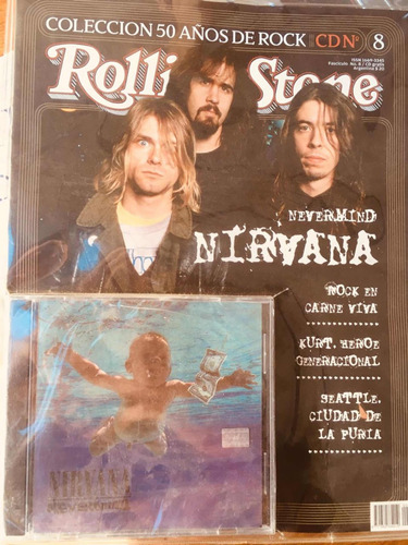 nirvana - nevermind - cd original más revista rolling stone
