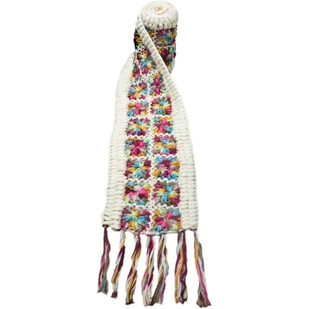 Nirvanna Designs Sc07 Ganchillo De Flores Bufanda Multicolor ...