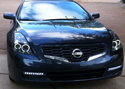 2008 Nissan Altima 3.5 Se >> Nissan Altima Coupe 2008 - 2009 Juego Faros Con Ojo De ...
