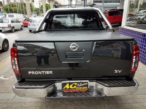 nissan frontier 2.5 sv attack cab. dupla 4x4 2014 preta