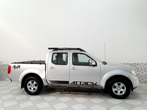 nissan frontier le 2.5 diesel 4x4 2013 prata automático