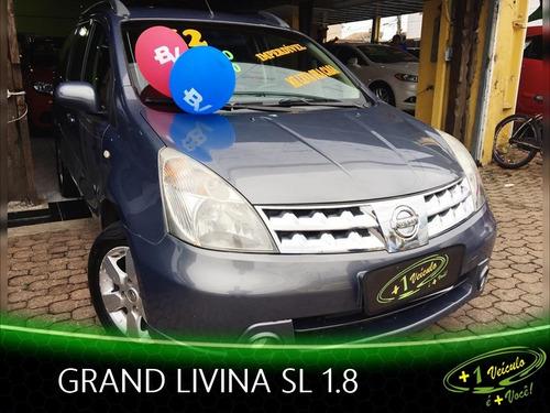 nissan grand livina sl 1.8 2012 cinza