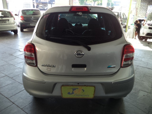 nissan march 1.0  flex 5p completo 2013 prata