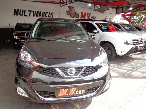 nissan march 1.6 16v sv 5p top completo impecável