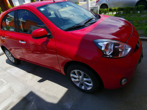 nissan march 1.6 advance at 2015 rojo
