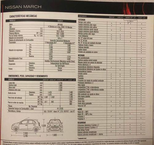 nissan march advance automático