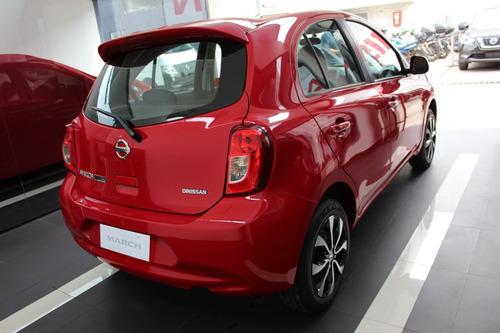 nissan march connect motor 1.6 modelo 2020 rojo 5 puertas