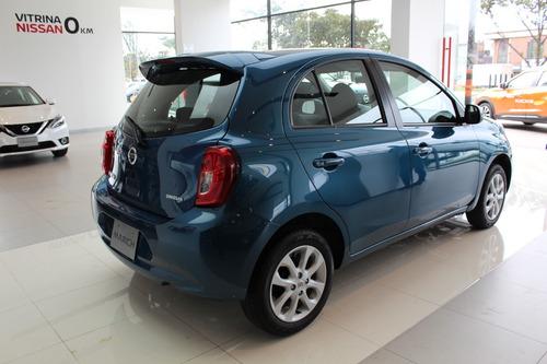 nissan march sense motor 1.6 modelo 2020 azul 5 puertas