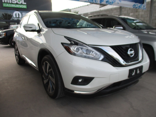 nissan murano exclusive awd, 6 cil, color blanco, mod 2019
