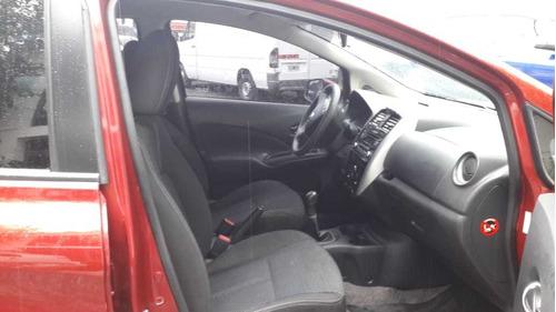 nissan note 1.6 sense 5 puertas manual color bordo