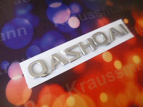 nissan qashqai, logo emblema cromado