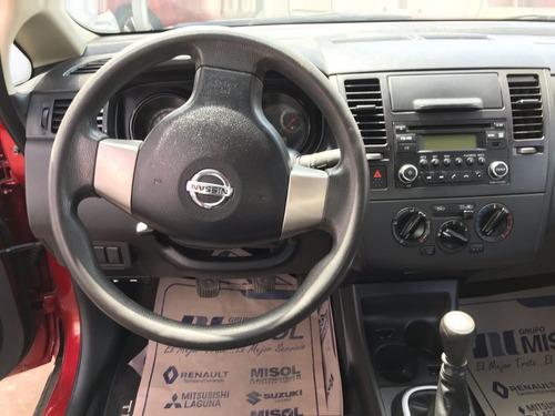 nissan tiida 1.8 sense sedan mt 2016 rojo
