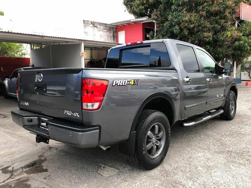 nissan titan 5.6l crew cab pro-4x 4x4 mt 2013