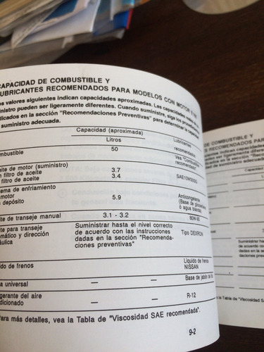 nissan v16 manual del propietario