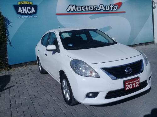 nissan versa 1.6l advance tm5 2012 credito recibo auto finan