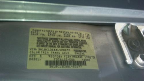 nissan versa 2008 atm 1.8 lit 4 cil venta de partes 2008